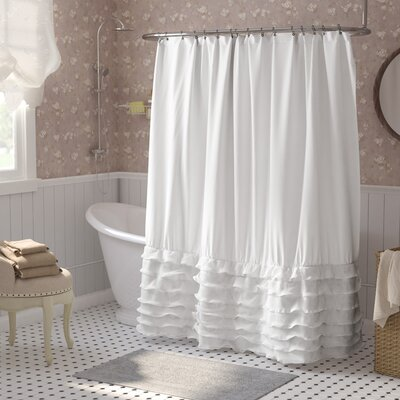 Lafleur Shower Curtain Color: White