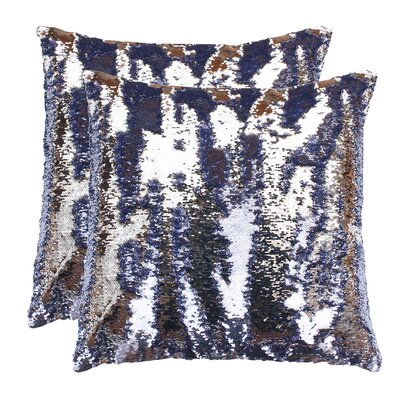 Fiorillo Reversed Shiny Throw Pillow Color: Nirvana Silver