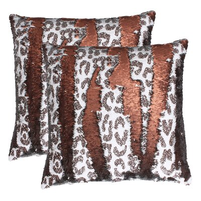 Marden Cheetah Reversible Sequin Throw Pillow