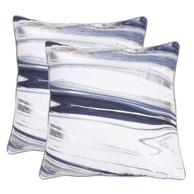 Hunsinger Raised Foil Throw Pillow Color: Gray Flannel Silver