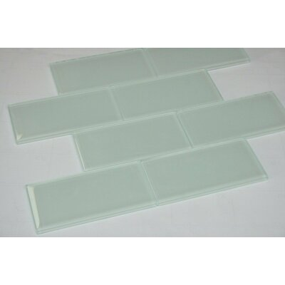 2 x 4 Glass Subway Tile in White