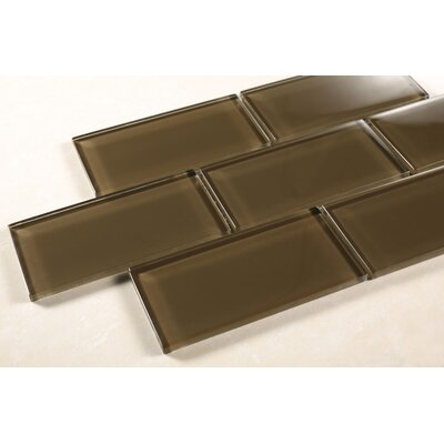 2x 4 Glass Subway Tile in Chocolate