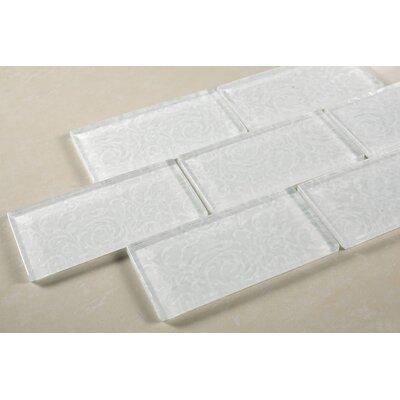 Deco 11.75 x 11.75 Glass Subway Tile in White