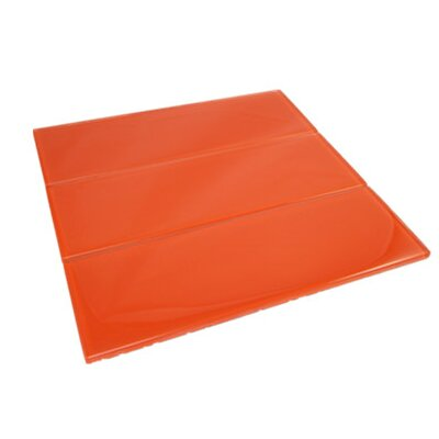 11.75 x 11.75 Glass Subway Tile in Orange