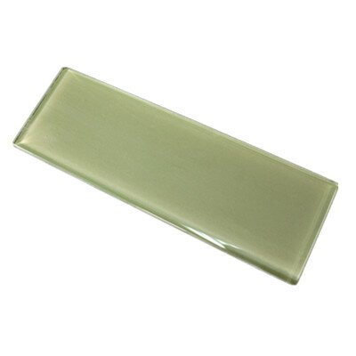 11.75 x 11.75 Glass Subway Tile in Green
