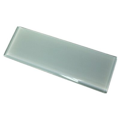 11.75 x 11.75 Glass Subway Tile in Light Gray
