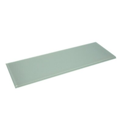 Glass 11.75 x 11.75 Subway Tile in Mint White