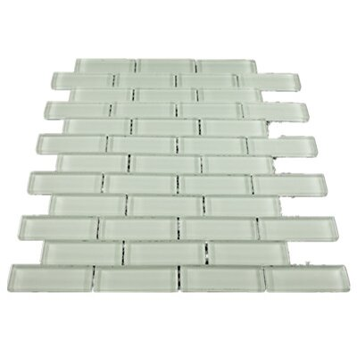 1 x 3 Glass Mosaic Tile in White