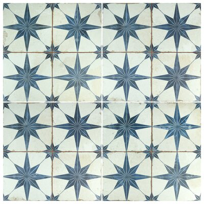 Royalty Galactic 17.63 x 17.63 Ceramic Field Tile in Blue