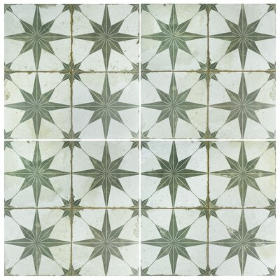 Royalty Galactic 17.63 x 17.63 Ceramic Field Tile in Sage