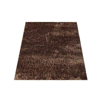 Predmore Hand-Tufted Brown Area Rug Rug Size: Rectangle 6 x 9