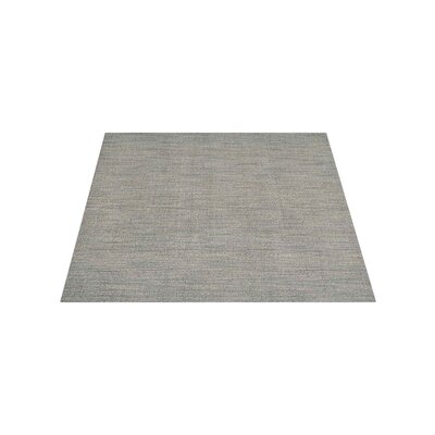 Riggio Hand-Knotted Wool Gray Area Rug Rug Size: Square 10