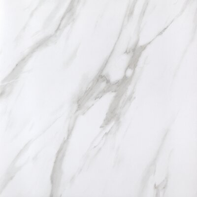 SAMPLE - Calacatta Full Polished Glazed Porcelain Field Tile in White