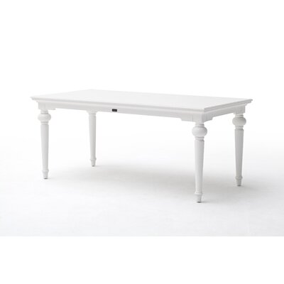 Winthrope Dining Table Size: 30 H x 35.5 W x 78.75 L, Top Color: White