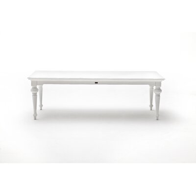 Winthrope Dining Table Size: 30 H x 35.5 W x 94.5 L, Top Color: White