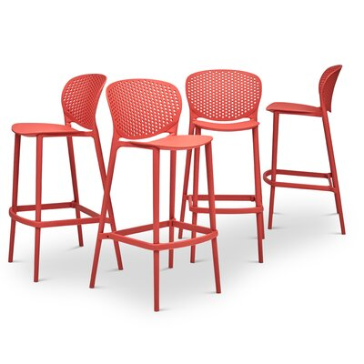 Watertown 29.75 Bar Stool Color: Mild Orange