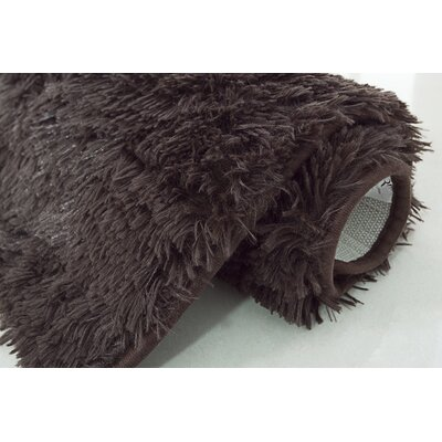 Efimenko 2-Piece Jasper Shaggy Bath Rug Set Color: Chocolate
