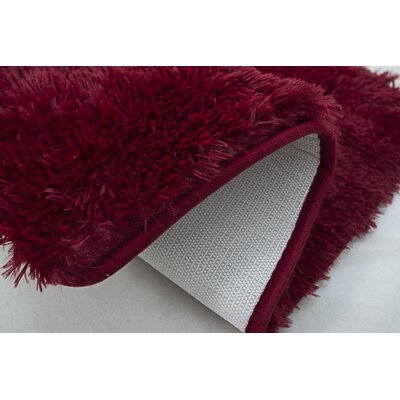 Efimenko 2-Piece Jasper Shaggy Bath Rug Set Color: Burgundy