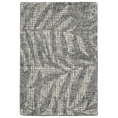 Claremont Olive Branches Hand-Tufted Wool Gray Area Rug Rug Size: Rectangle 2 x 3