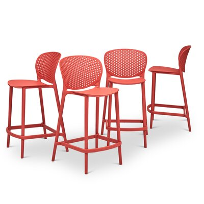 Watertown Counter 25.5 Bar Stool Color: Mild Orange