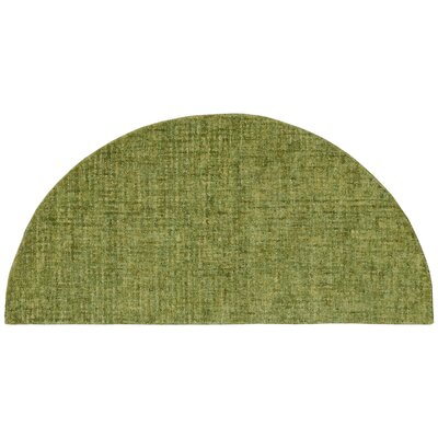 Warford Hand-Tufted Wool Green Area Rug Rug Size: Half Circle 2 x 4