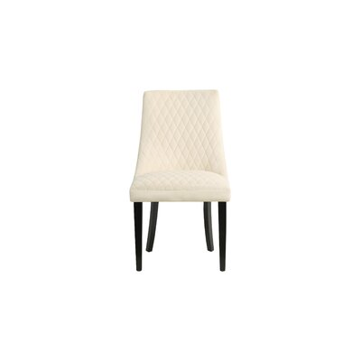 Romanowski Upholstered Dining Chair Upholstery Color: Cream