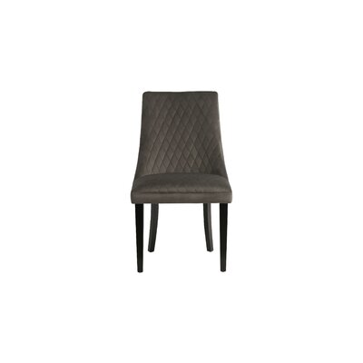 Romanowski Upholstered Dining Chair Upholstery Color: Gray