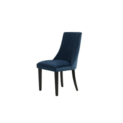 Romanowski Upholstered Dining Chair Upholstery Color: Blue