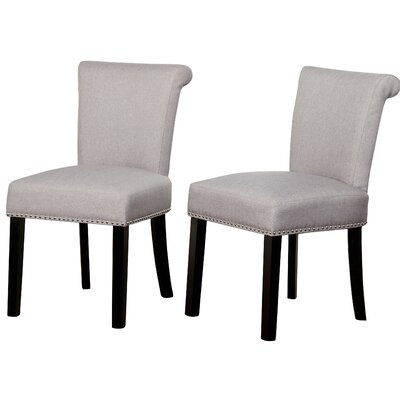 Hubler Upholstered Dining Chair Upholstery Color: Gray