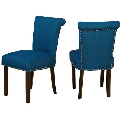 Hubler Upholstered Dining Chair Upholstery Color: Turquoise