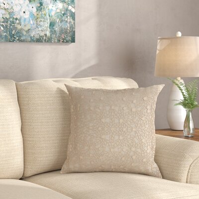 Castalia Throw Pillow Color: Linen