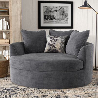 Marta Cuddler Chair and a Half Upholstery: Grey