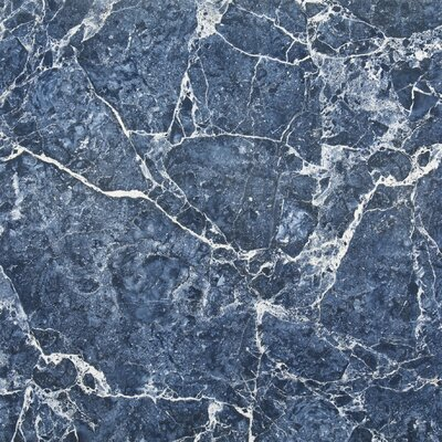 SAMPLE - Versailles Full Polished Glazed Porcelain Field Tile in Blue