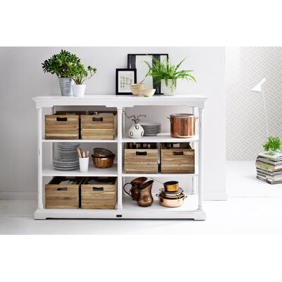 Ownby Kitchen Island with 6 Wood Crates