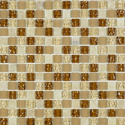 Mocha Honey Square Penny 0.6 x 0.6 Marble Mosaic Tile in Brown