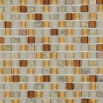 Square Penny 0.6 x 0.6 Marble Mosaic Tile in Brown