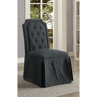 Sickmeier Upholstered Dining Chair Set Upholstery Color: Gray