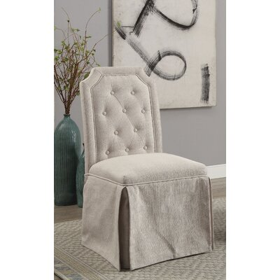 Sickmeier Upholstered Dining Chair Set Upholstery Color: Beige