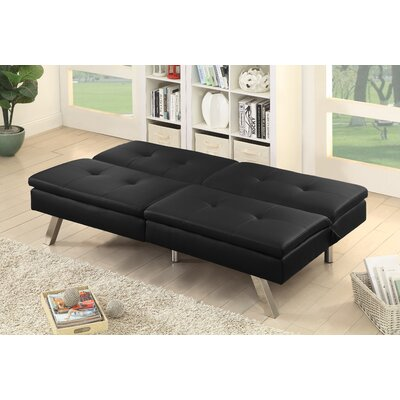 Gospodarczyk Convertible Sofa Upholstery: Black