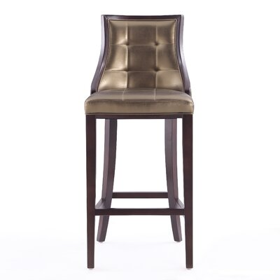 Drennon 31.5 Bar Stool Upholstery: Bronze
