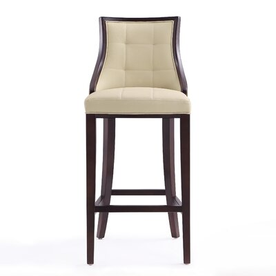 Drennon 31.5 Bar Stool Upholstery: Cream