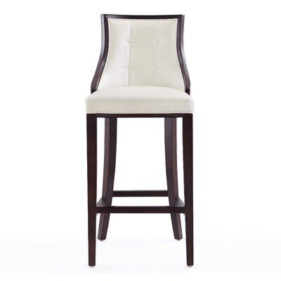 Drennon 31.5 Bar Stool Upholstery: Pearl White