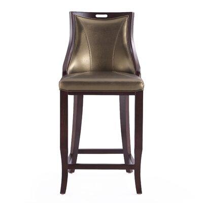 Dreshertown 27 Bar Stool Upholstery: Bronze