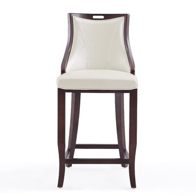 Dreshertown 27 Bar Stool Upholstery: Pearl White
