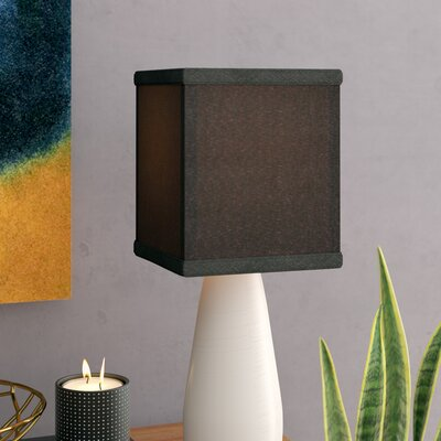 6 Linen Rectangular Lamp Shade Color: Black