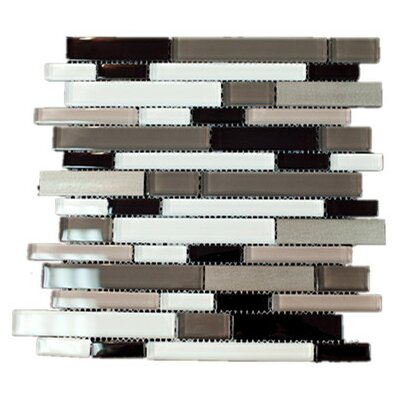 Random Sized Mixed Material Tile in Brown/Black