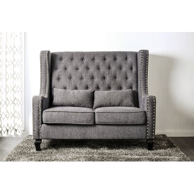 Huntsberry Loveseat Upholstery: Gray