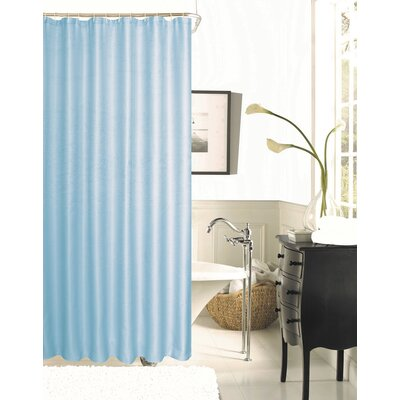 Figaro Waffle Shower Curtain Color: Aqua