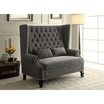 Kemper Loveseat Upholstery: Gray