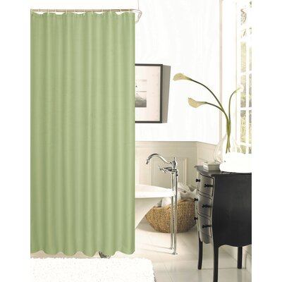 Figaro Waffle Shower Curtain Color: Sage